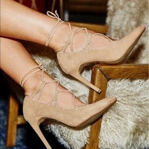 Jeffrey Campbell Brielle lace-up heels